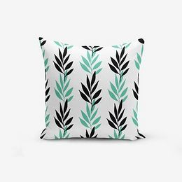 Obliečka na vankúš s prímesou bavlny Minimalist Cushion Covers Colorful LEaf Modern, 45 × 45 cm