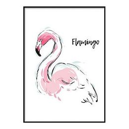 Plagát DecoKing Flamingo Aquarelle, 70 x 50 cm
