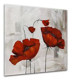 Obraz Styler Glasspik Flower Poppy Bloom, 20 × 20 cm