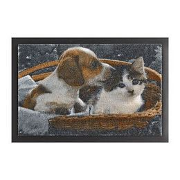 Rohožka Hanse Home Animals Dog and Cat, 40 × 60 cm