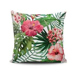 Vankúš s prímesou bavlny Cushion Love Jungle Flowers, 45 × 45 cm