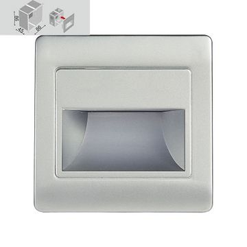 Emithor STEP LIGHT LED 1,5W, 4000K,SILVER